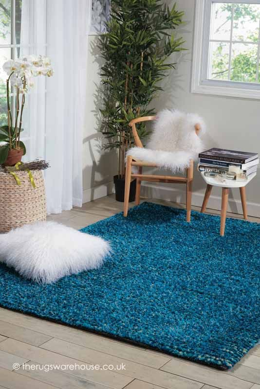 fantasia turquoise rug a handmade wool 75 polyester 25 rh pinterest com