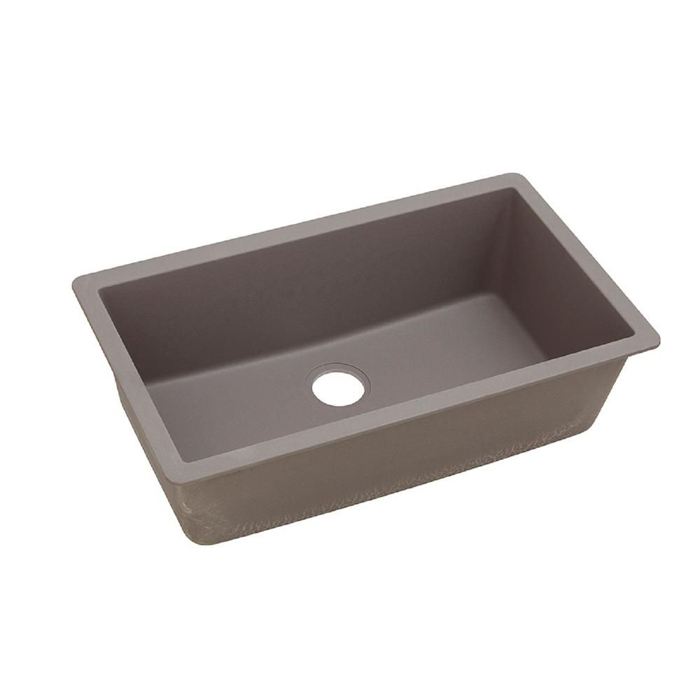 elkay quartz classic undermount composite 33 in single bowl kitchen rh pinterest com