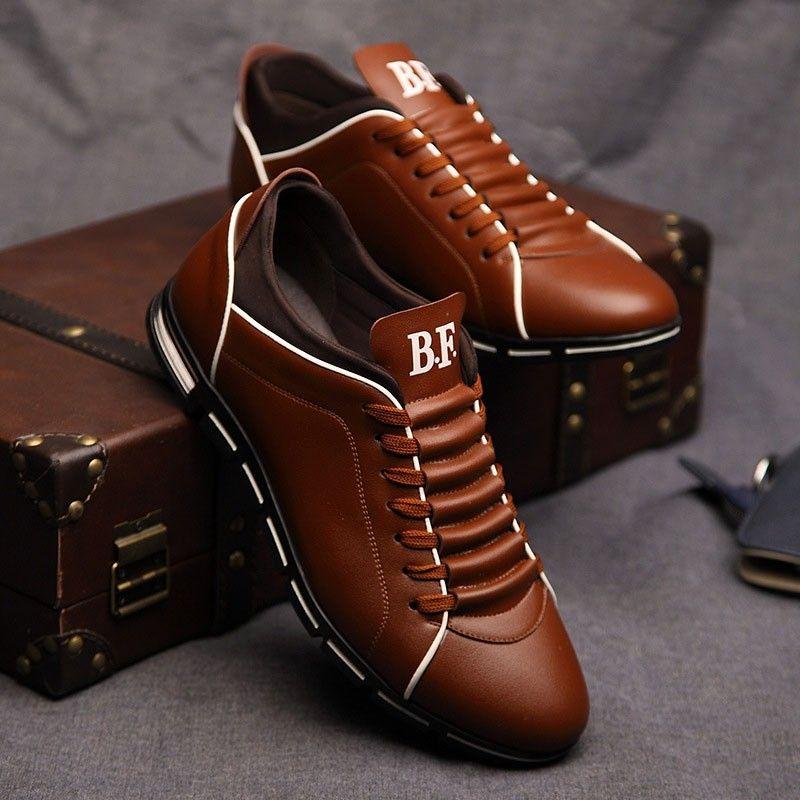 4f86c484c0 Sapatenis Social Masculino em Couro Marrom Calçados Elegante Sapato Casual  - Calitta