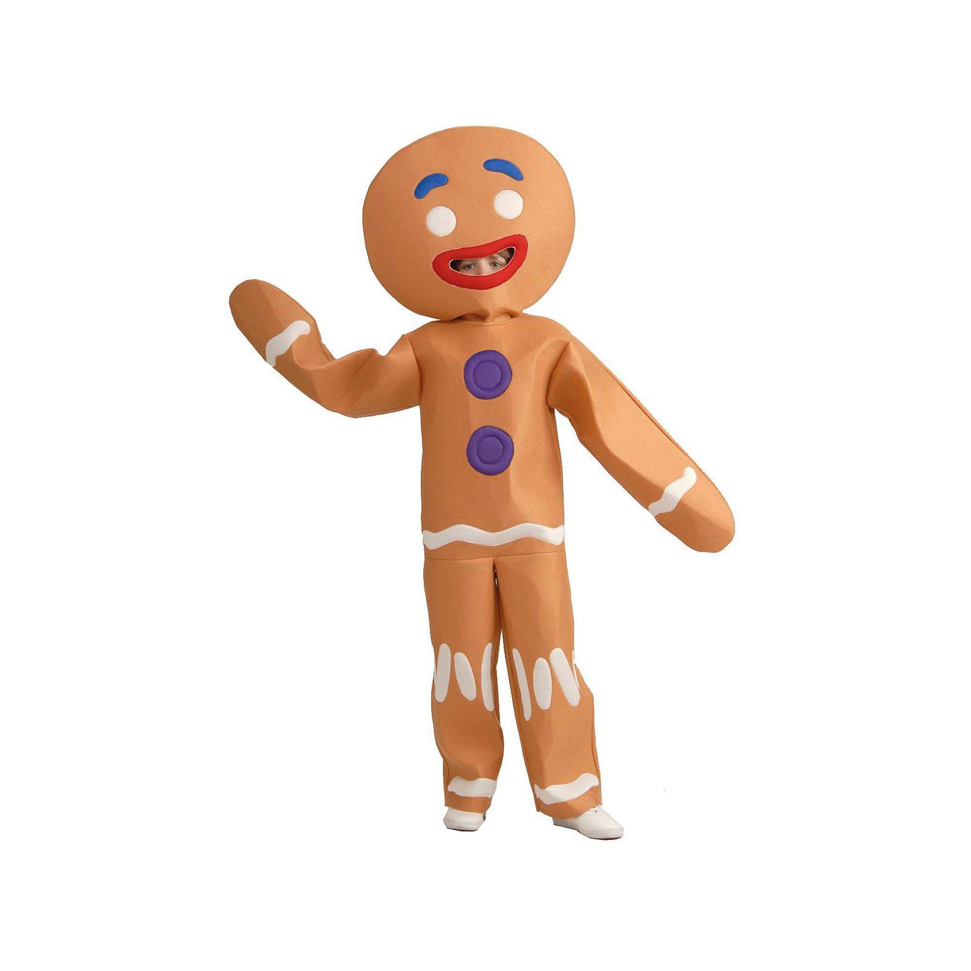 Shrek Gingerbread Man Costume Kids, Size Large