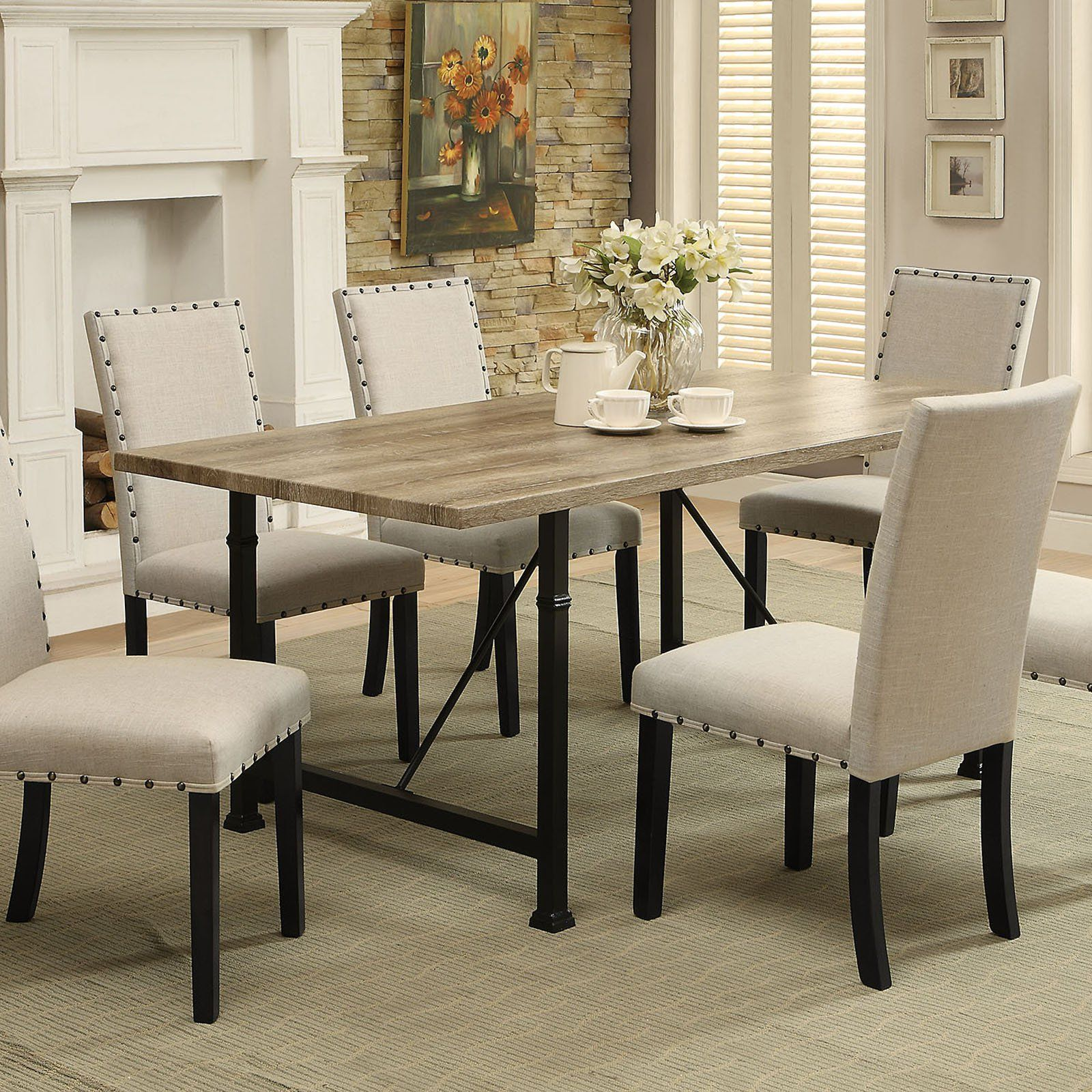 acme furniture old lake dining table 71925 products pinterest rh pinterest ca