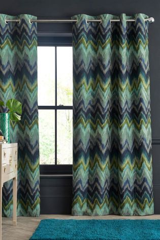 buy teal feathered ikat eyelet curtains from the next uk online shop rh pinterest com