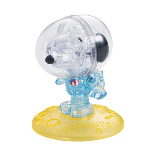 3d Crystal Puzzle Peanuts Astronaut Snoopy 35 Pcs By Bepuzzled 3d Crystal Crystals Snoopy