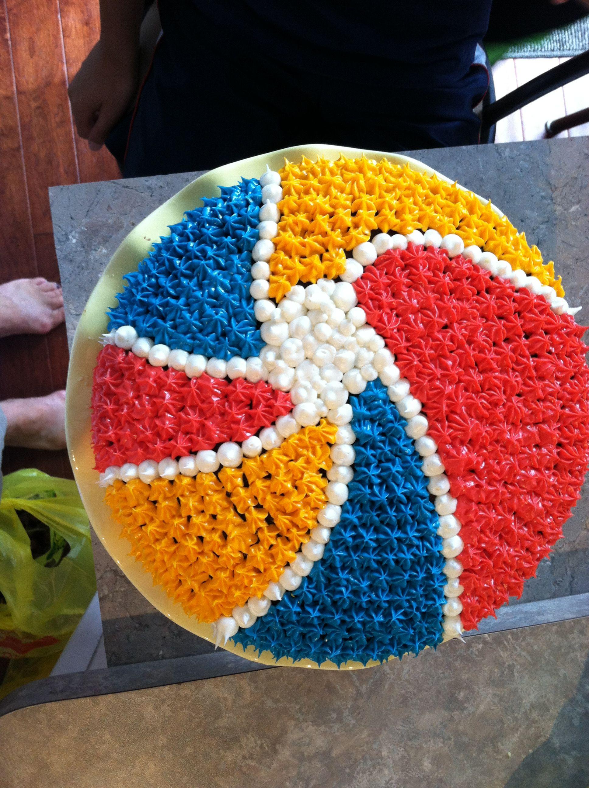 Beach ball birthday cake | My Things | Pinterest
