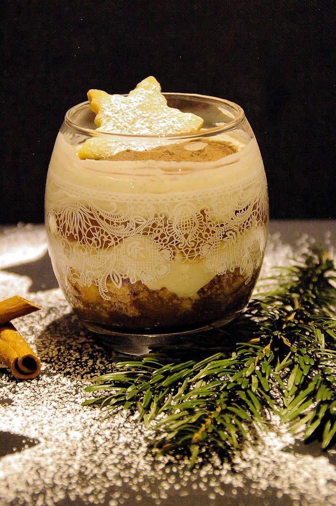 Rezept: Das Dessert für die Weihnachtstafel einmal Apfel Zimt Creme #einfachernachtisch