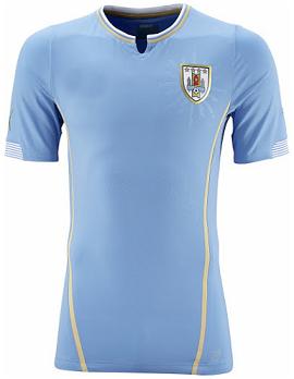 b23433803 2014 FIFA WORLD CUP URUGUAY Soccer Team Home Replica Jersey  PF1407132310