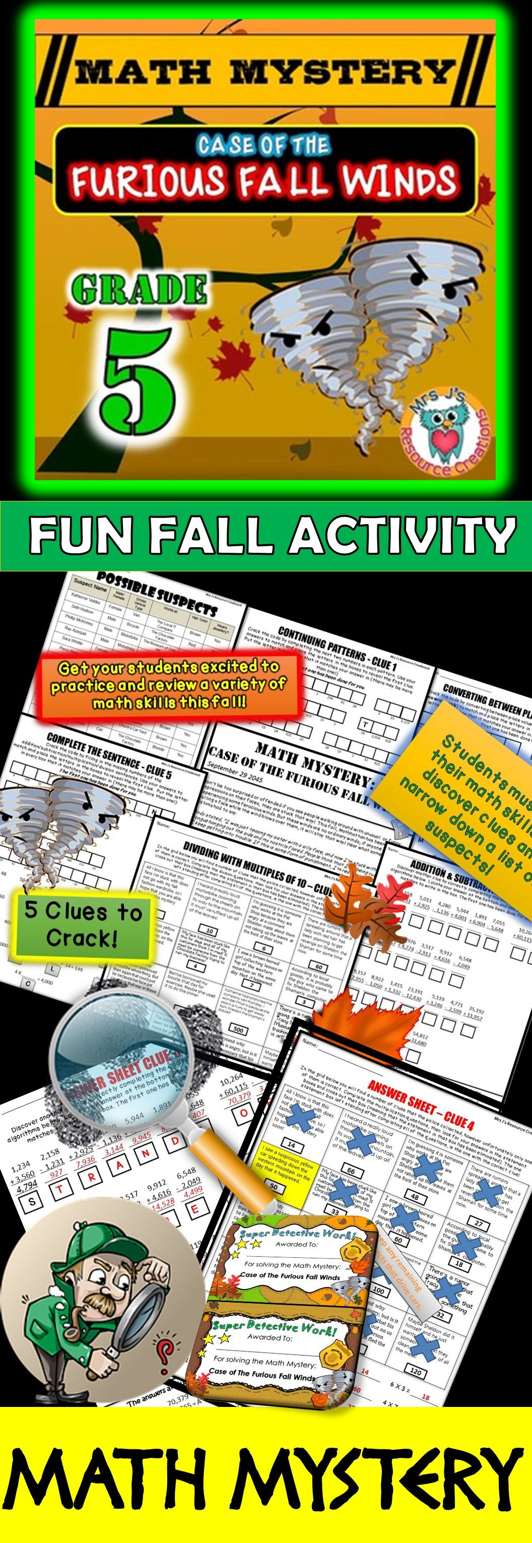 5th Grade Fall Activity