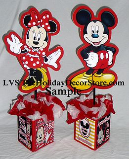Mickey Mouse Clubhouse Personalized Birthday Party Decorations Supplies Minnie Centerpieces Tradional Colors Red Black Yellow Twins Baby Shower By