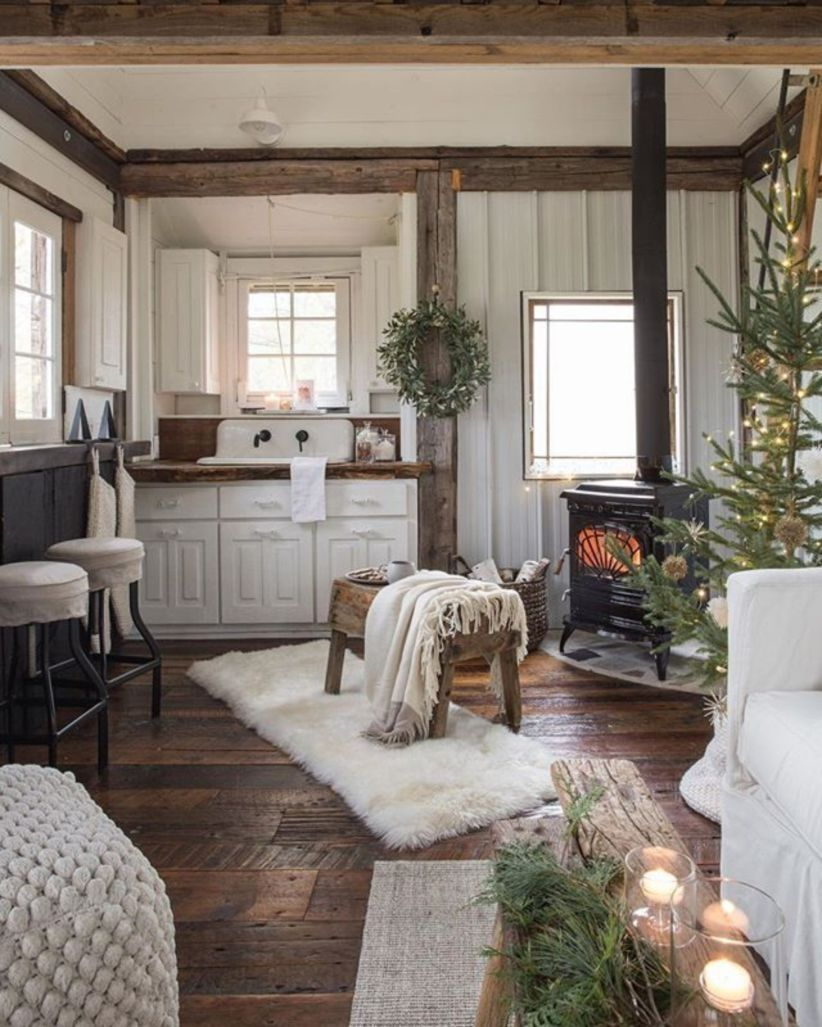 43 Cozy Decorations For Cottage House Farm House Living Room House Interior Home Decor