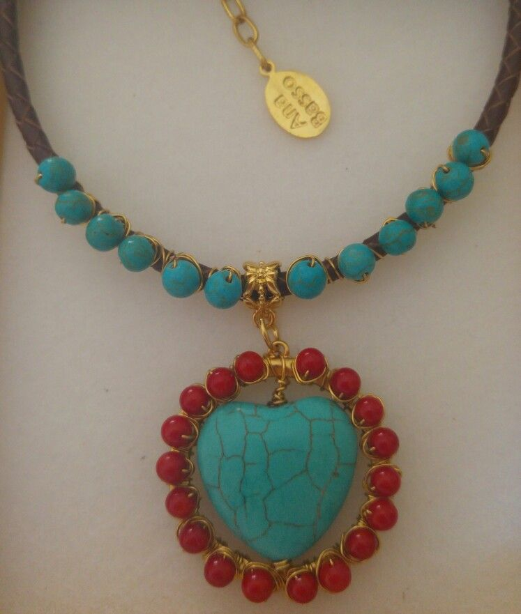 # coral #turquesa #collar #primavera #esencial