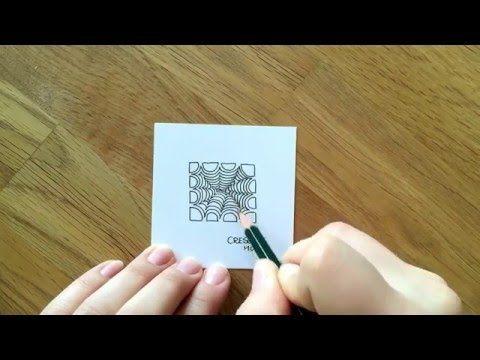 Zentangle® Muster: Crescend Moon - YouTube