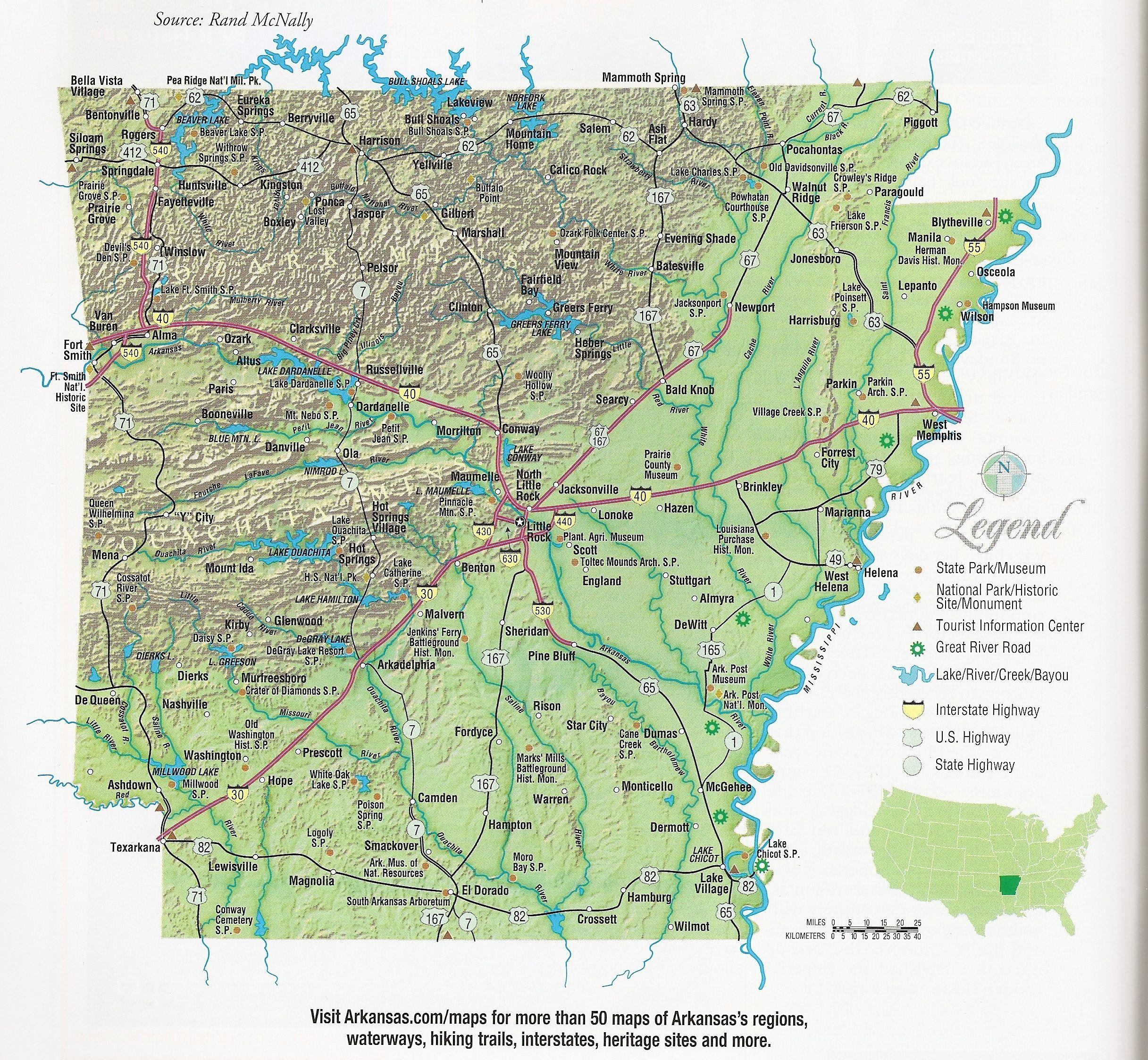 Map of Arkansas Arkansas Pinterest