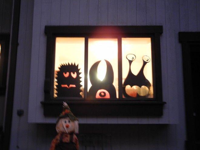 Window Monsters -- Easy, Cheap DIY Halloween Decorations Pinterest - my halloween decorations