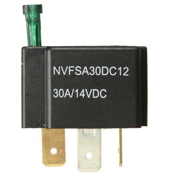12V 30A Car 4Pin Relay Normally Open Contacts Fused OnOff With - Automotive Relay Normally Open