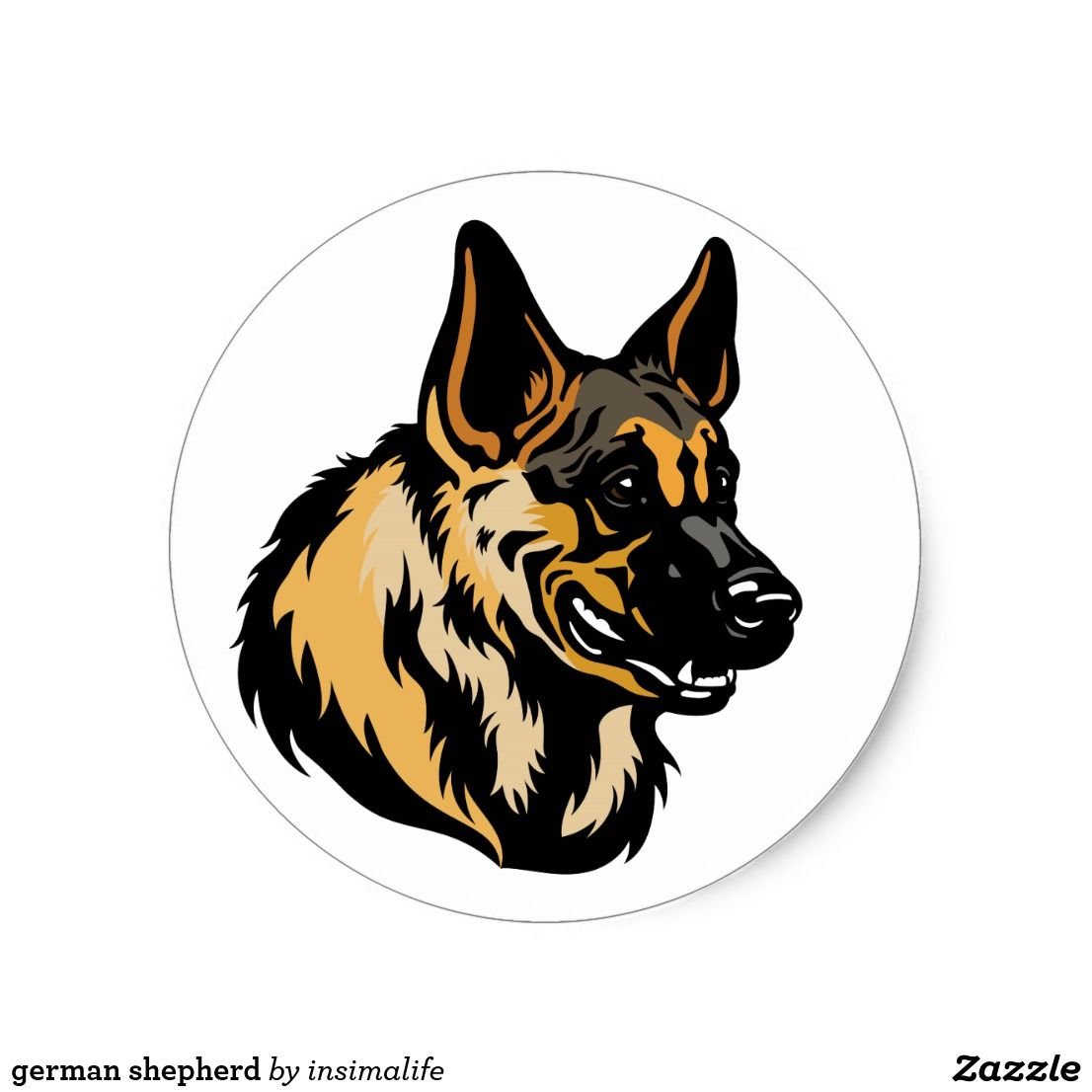German Shepherd Classic Round Sticker Zazzle Com German