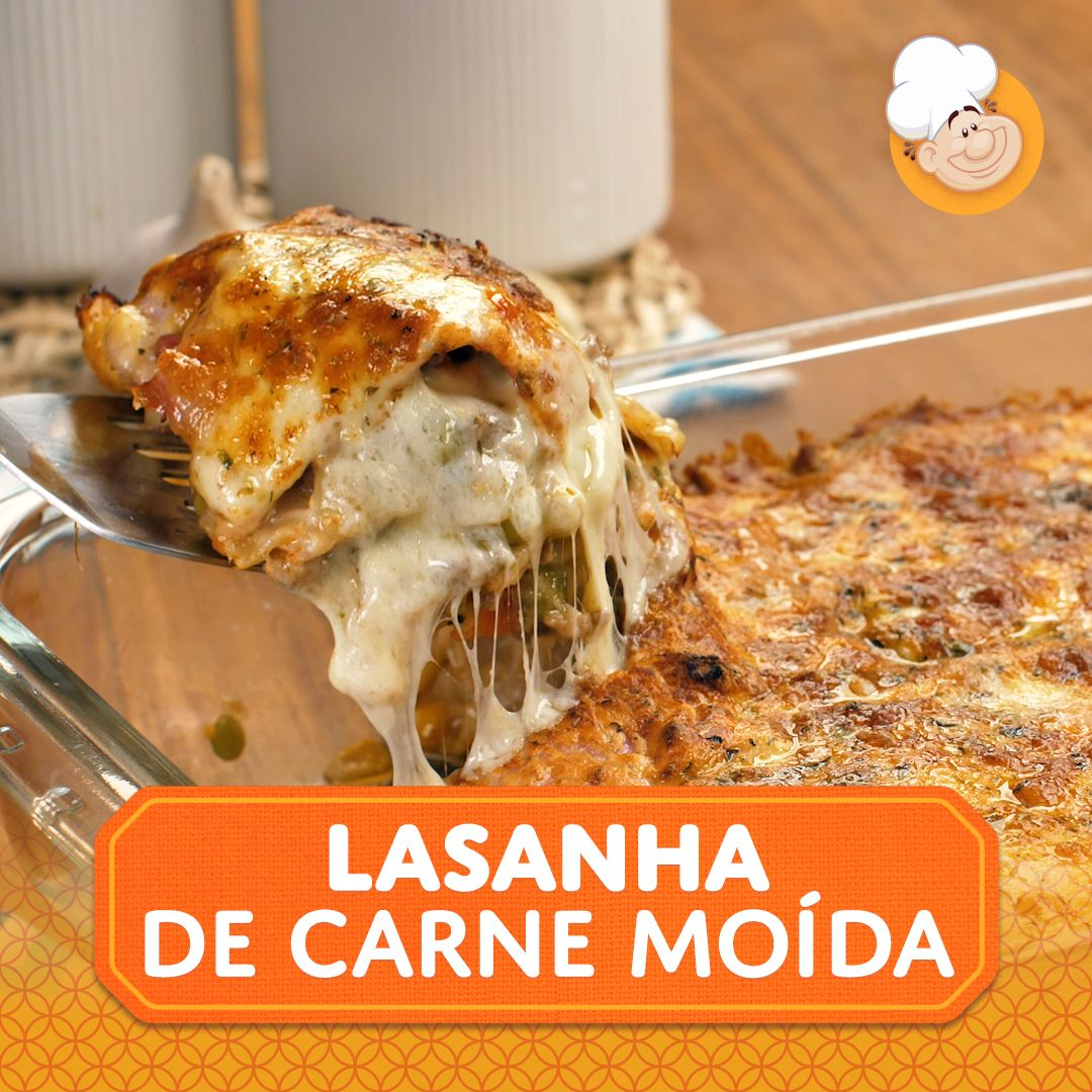 Photo of Lasanha de carne moída e presunto