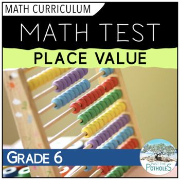 Place Value math unit test - assessment | Math | Place values, Math