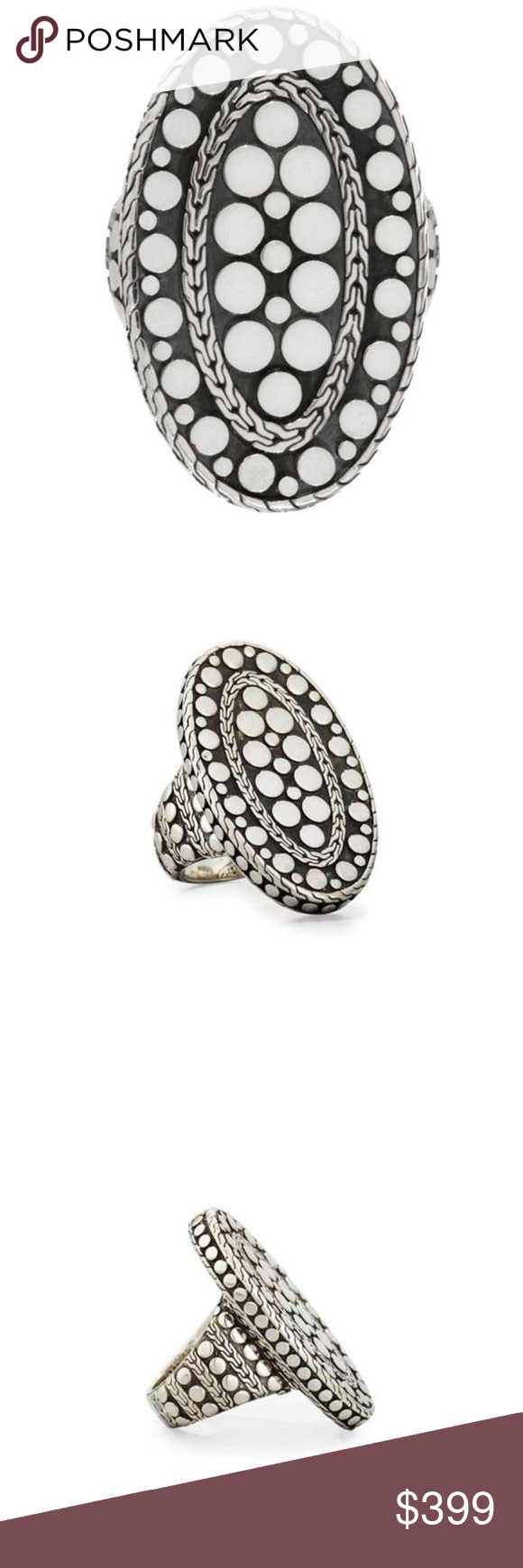 John Hardy Oval Dot Ring, Size 7