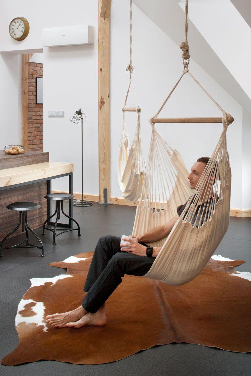 Terrific This Renovated Loft Has A Couple Of Hammock Chairs Hanging Inzonedesignstudio Interior Chair Design Inzonedesignstudiocom