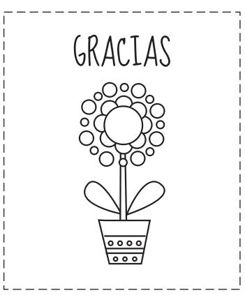 Tarjetas de gracias para colorear | Pinterest | Tarjetas de ...