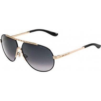 black and gold aviators  Jimmy Choo Sunglasses - Benny/S / Frame: Shiny Black Lens: Gray ...