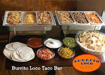 Google images taco bar bar and sour cream for Food bar party ideas