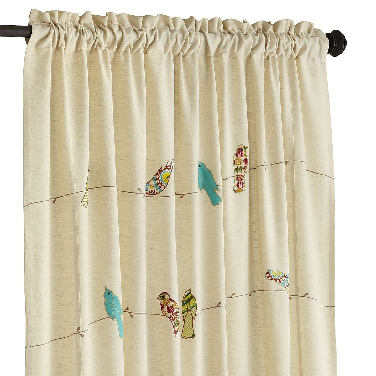 Applique Birds Wire Curtain Bird Curtains Patterns