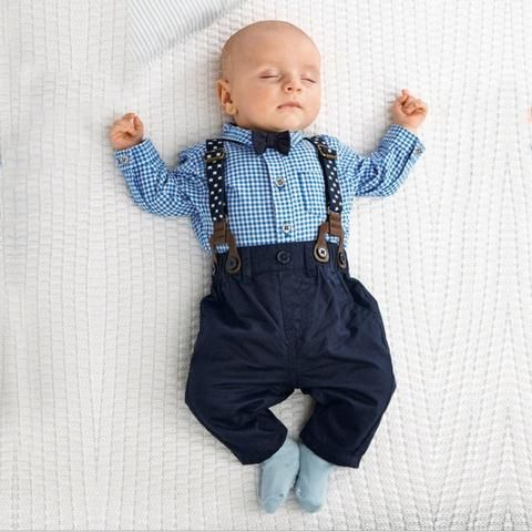 86daefd68 New Born Baby Boy Clothes Bow Tie Baby Girls Clothing Gentleman ...