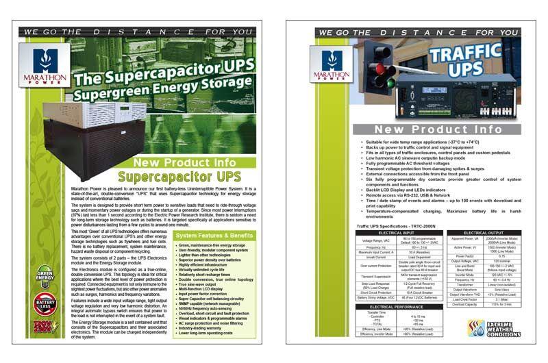Marathon Power Product Sheet Energy Storage Electronic Kits Portfolio