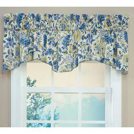 Waverly 18 L Porcelain Home Classics Scalloped Valance Window Valance Valance Curtains
