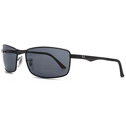a6c3286c0ab Ray-Ban Men s Rectangle Wrap Sunglasses in Matte Black Polarised Grey  RB3498 006 81