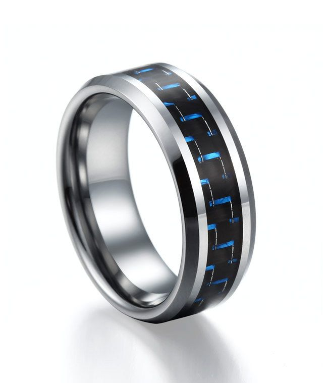 Blue Zing Tungsten Ring for Men, $110.00 (http://www.june26.ca/blue-zing-tungsten-ring-for-men/)