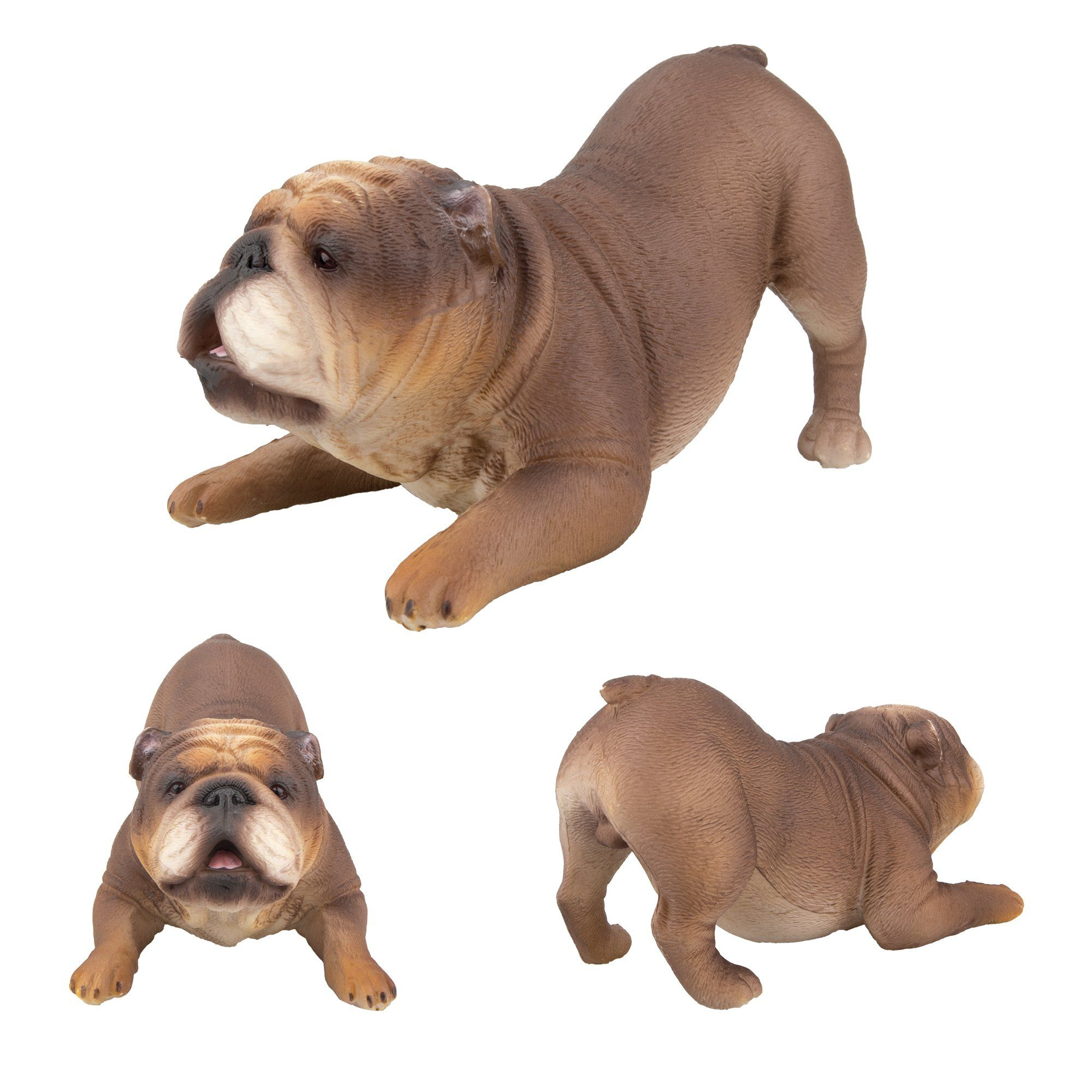 Toymany Realistic Large Bulldog Figurines Solid Dog Figures Toy