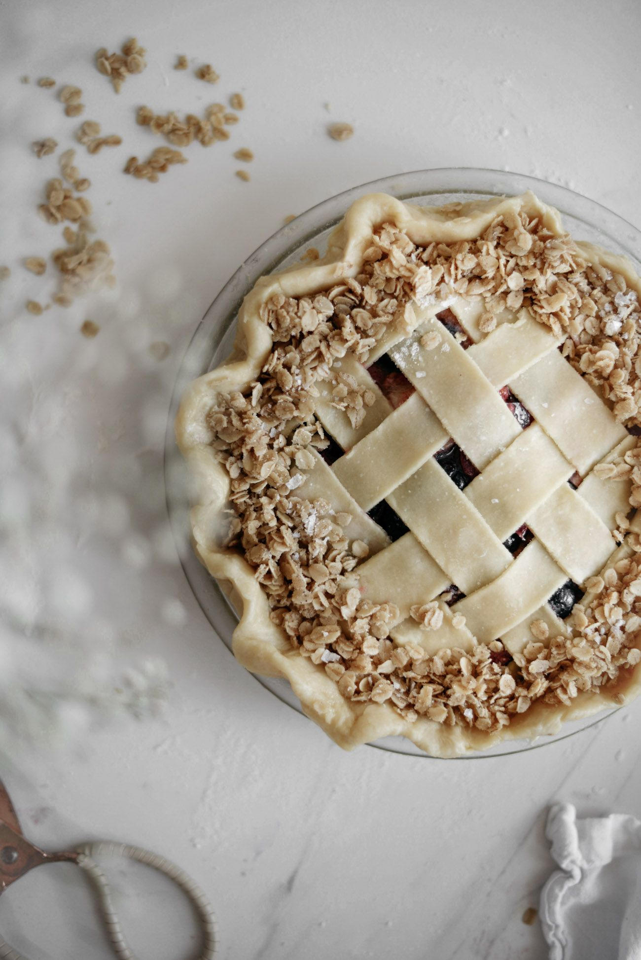 Black Plum Fig And Berry Pie With Brown Butter Oat