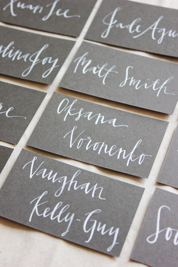 recent work wedding and event calligraphy