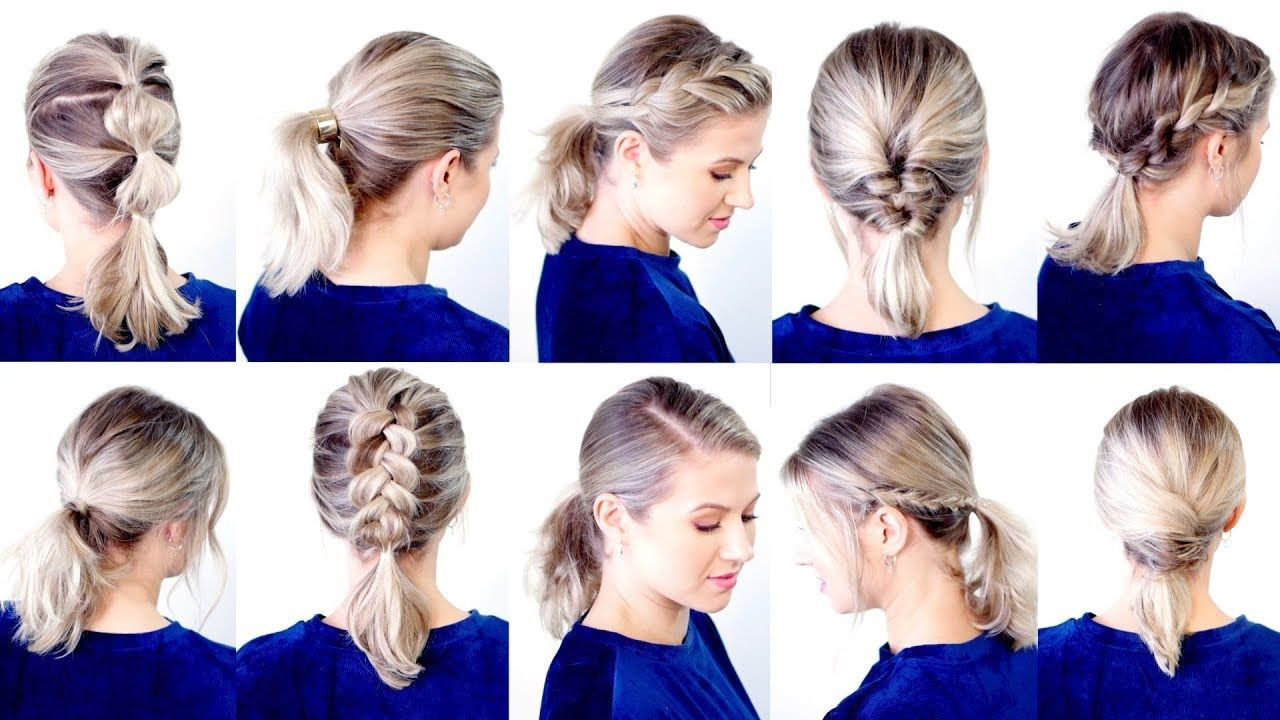 10 Cute Easy Low Ponytail Hairstyles Milabu Youtube Ponytail Hairstyles Easy Low Ponytail Hairstyles Short Hair Ponytail