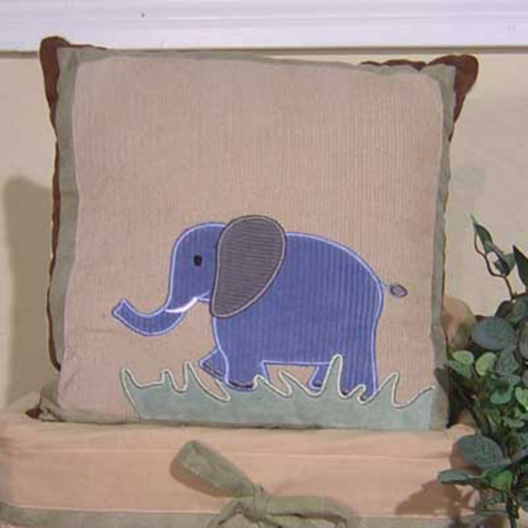 brandee danielle on safari elephant decorative pillow  bos  - brandee danielle on safari elephant decorative pillow  bos