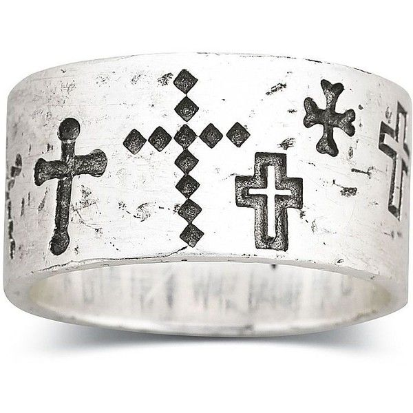 Thumb Ring Silver Cross Ring Walk Beside Me Found On Polyvore