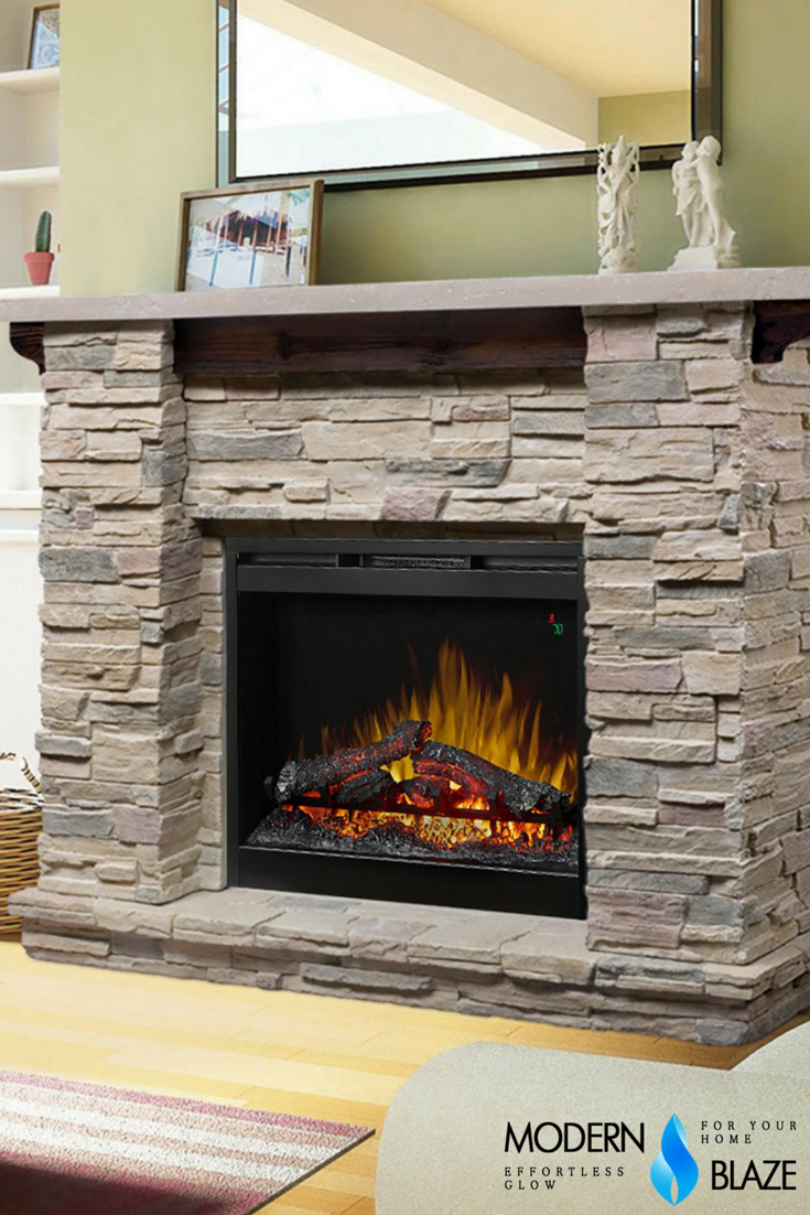 dimplex featherston 26 electric fireplace with stone mantel ul rh pinterest com