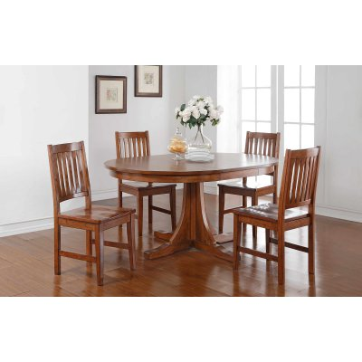 winners only round pedestal dining table with 18 in butterfly leaf rh in pinterest com