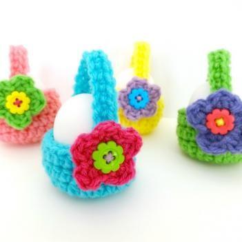 Little Egg Baskets crochet pattern | crochet | Pinterest | Con amor ...