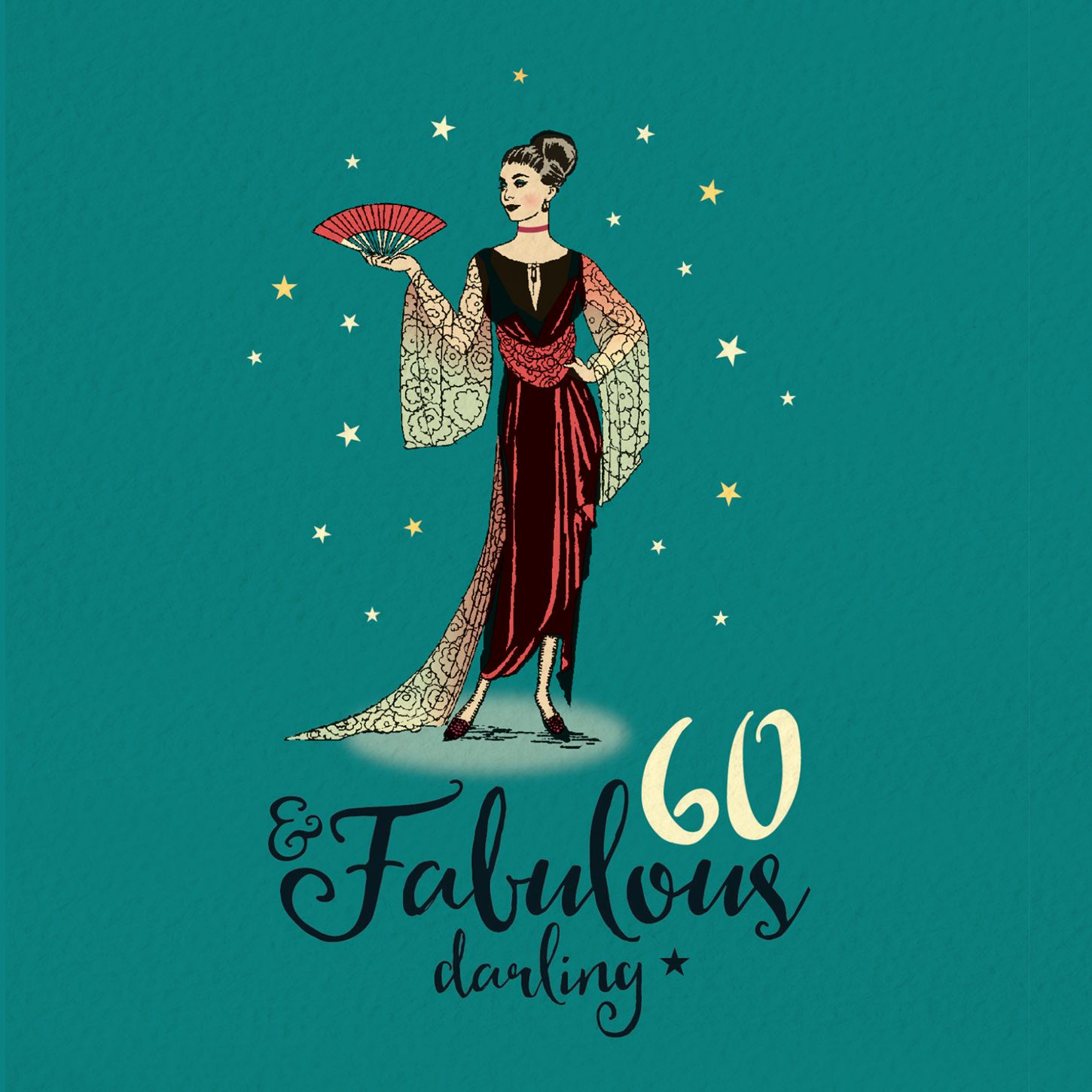 60th birthday card for her fabulous 60 in 2020 60th