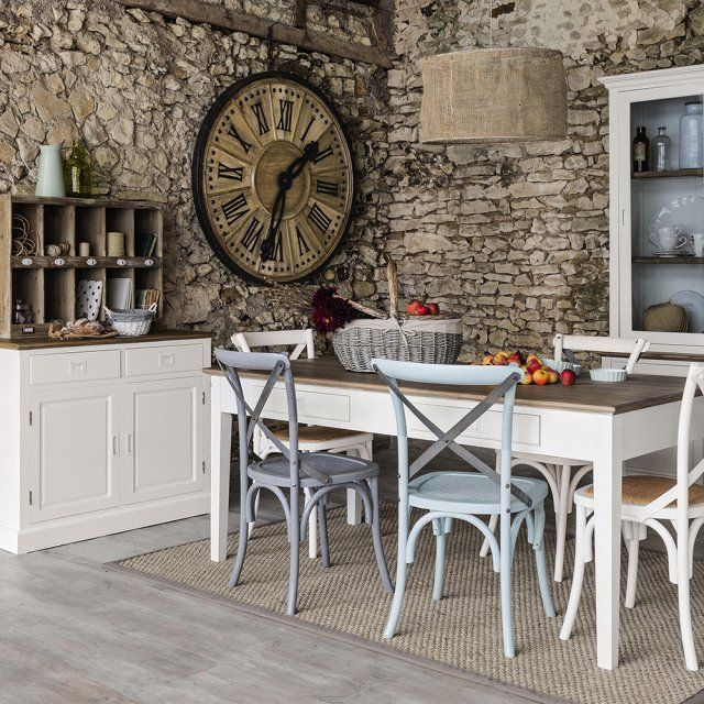 Style campagne chic  des murs en pierre Salons, Shabby and