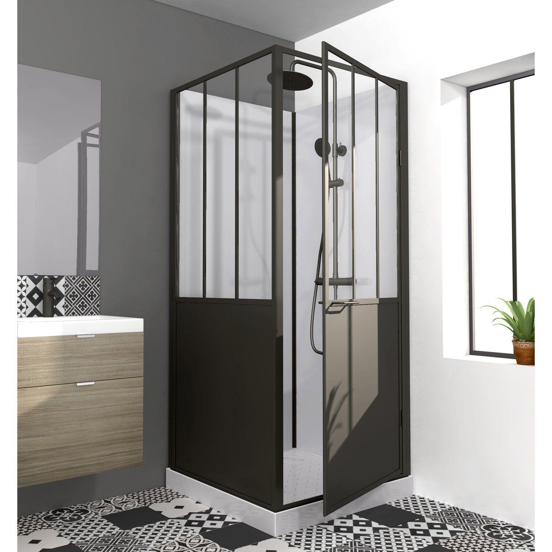 cabine de douche carr atelier en 2019 deco cabine de. Black Bedroom Furniture Sets. Home Design Ideas