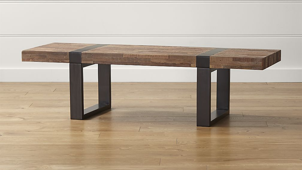 Seguro Rectangular Coffee Table Crate And Barrel 699 For Living Room 60 Long 19 75 Wide 17 Coffee Table Wood Coffee Table Rectangle Coffee Table Wood