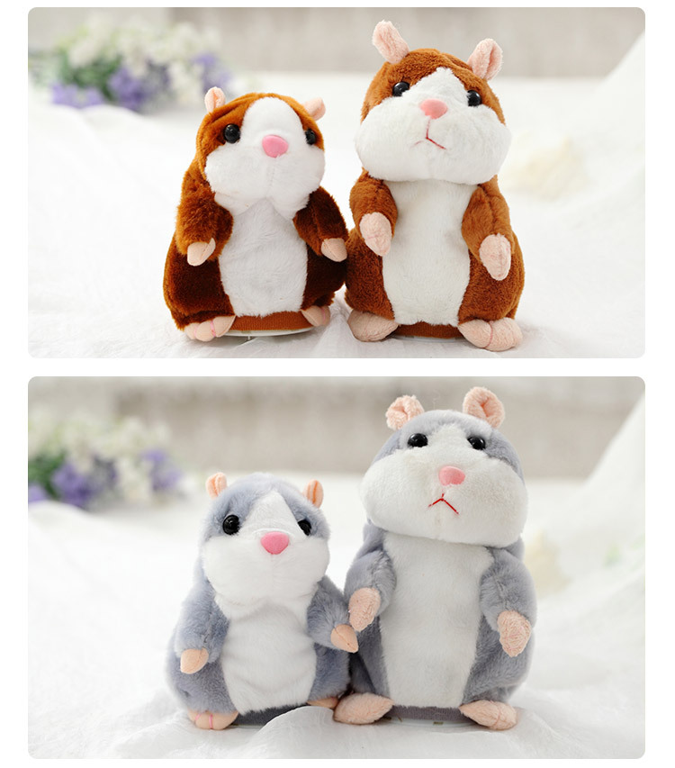 16cm Lovely Talking Hamster Speak And Talk Sound The Express