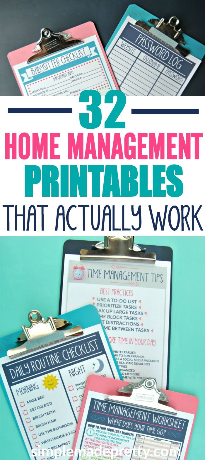 32 Homemaking Printables That Actually Work Home