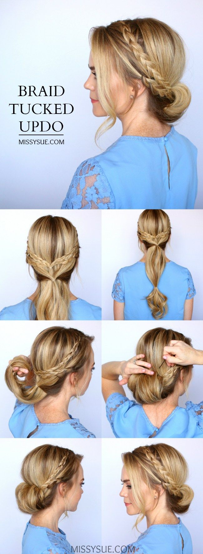 Haircut for boys age 10 braided tucked updo by missy sue  hair  pinterest  updo hair