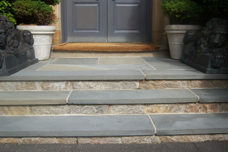 Note Great Example Of Smooth Edged Stair Treads With Blue Stone Steps Reclaimed Veneer And Pennsylvania Bluestone