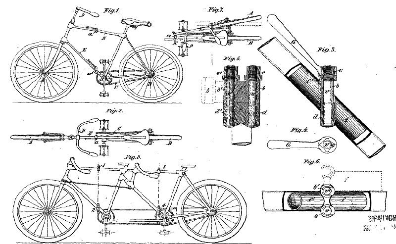 Simon Dussault Folding Convertible Tandem Bicycle The First